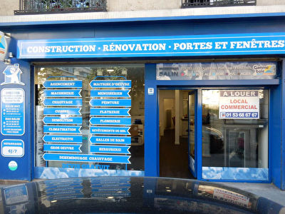 Local commercial Rue BRANCION  RDC 65 m²  + cave 15,91m²